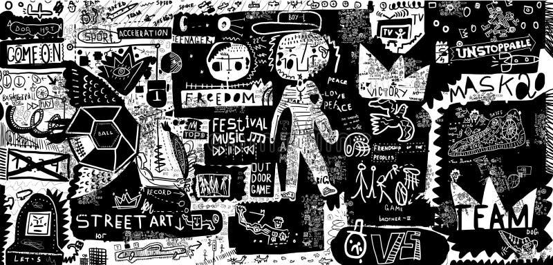 Graffiti illustrazione di stock