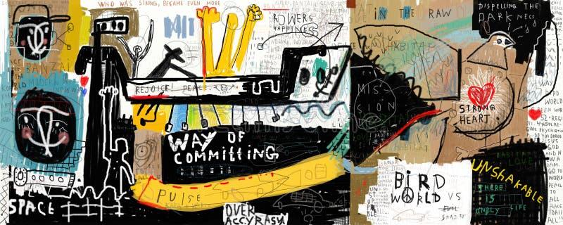 Graffiti stock illustratie