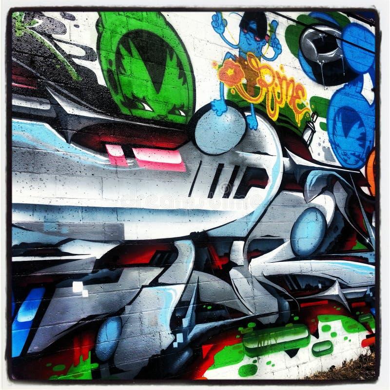 graffiti fotografia stock