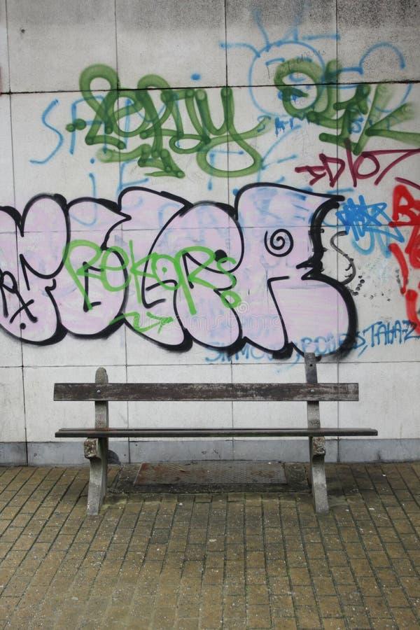 Graffiti. An urban scene with graffiti stock image