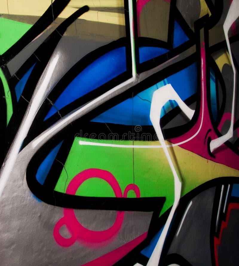 Graffiti. Colorful graffiti painted on the wall stock photo