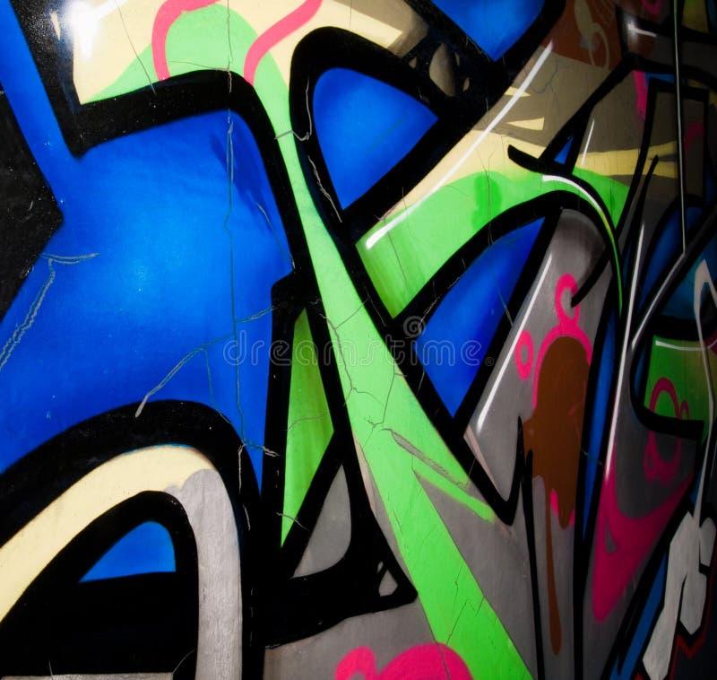 Graffiti. Colorful graffiti painted on the wall stock image