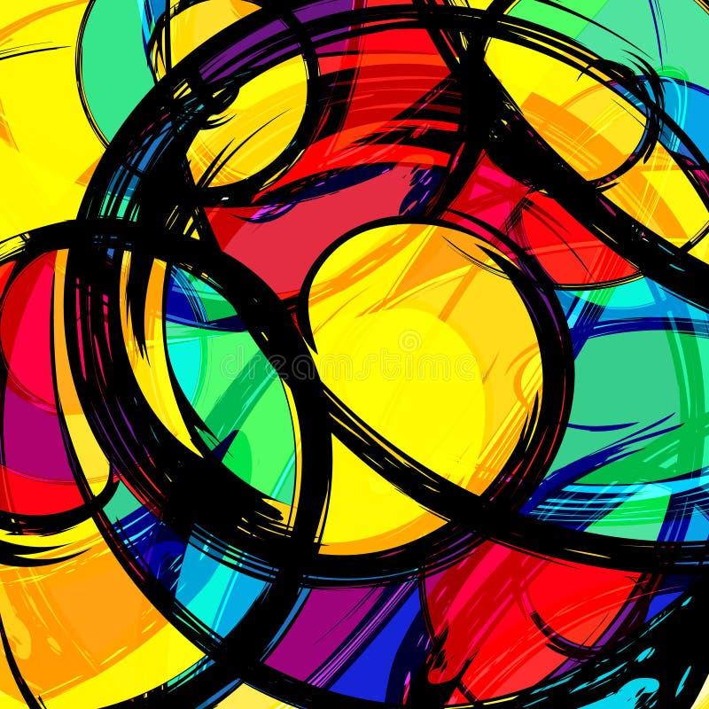 Graffiti Abstracte mooie kleurrijke achtergrond grunge textuurillustratie royalty-vrije illustratie