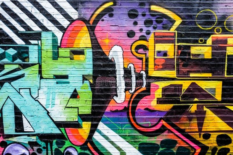 Graffiti abstrait de klaxon de haute fidélité et de haut-parleur illustration libre de droits