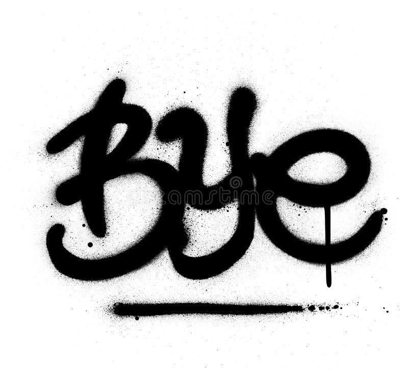 Graffiti-afscheid in zwart-wit stock illustratie