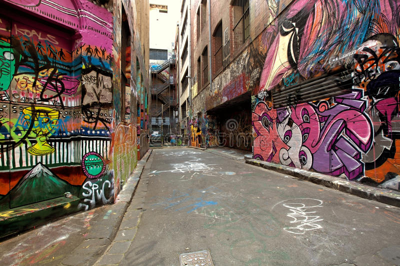 Graffiti Alley royalty free stock image