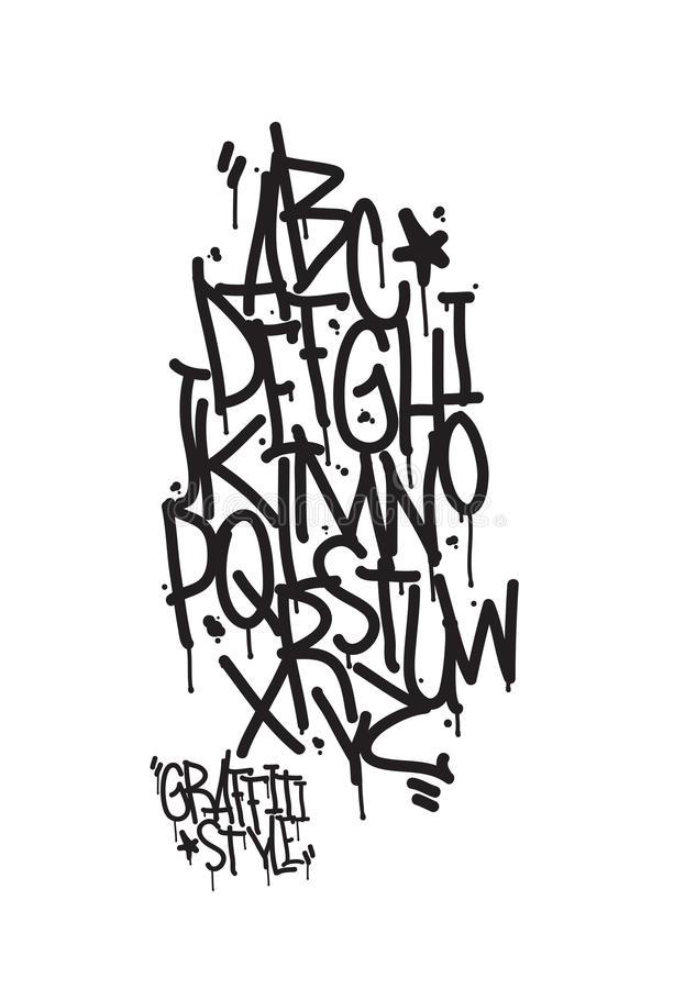 Graffiti Alphabet. Letters Of The Alphabet Written With A ...