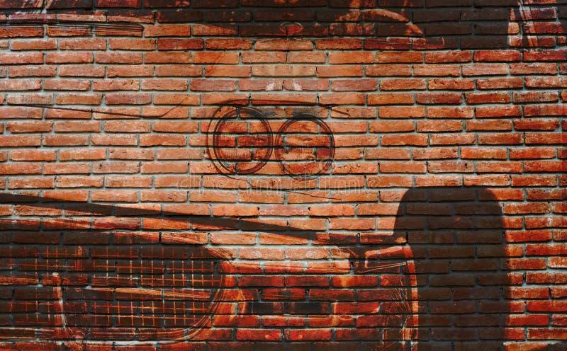Graffiti Amricain De Voiture Sur Le Mur De Briques Extrieur Image