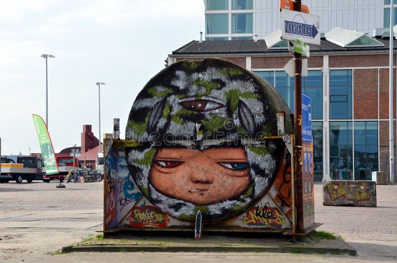 Graffiti a Amsterdam, Olanda fotografia stock libera da diritti