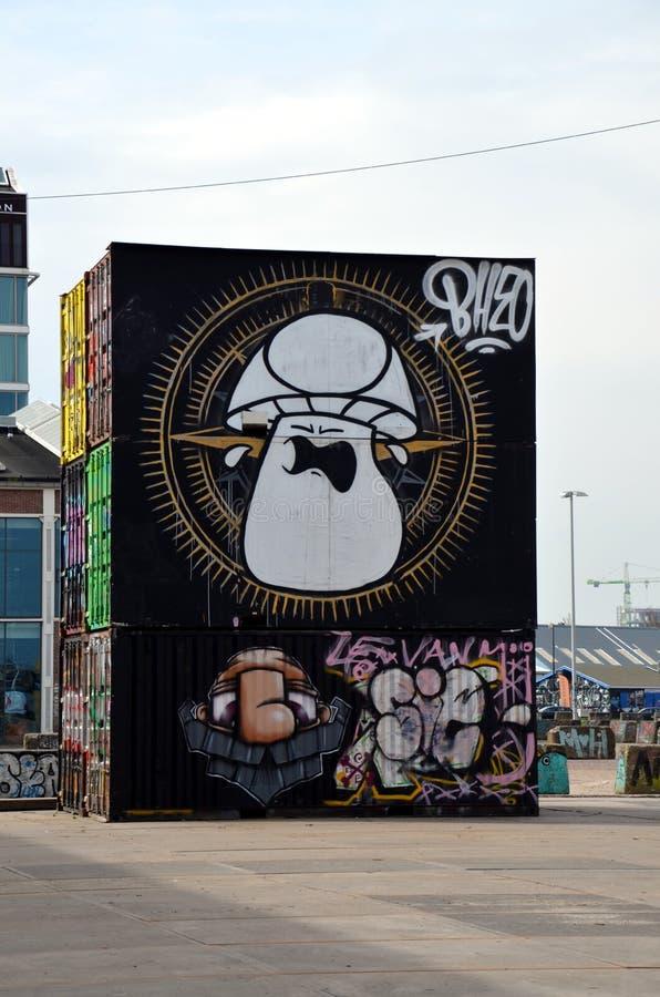 Graffiti a Amsterdam, Olanda fotografie stock libere da diritti