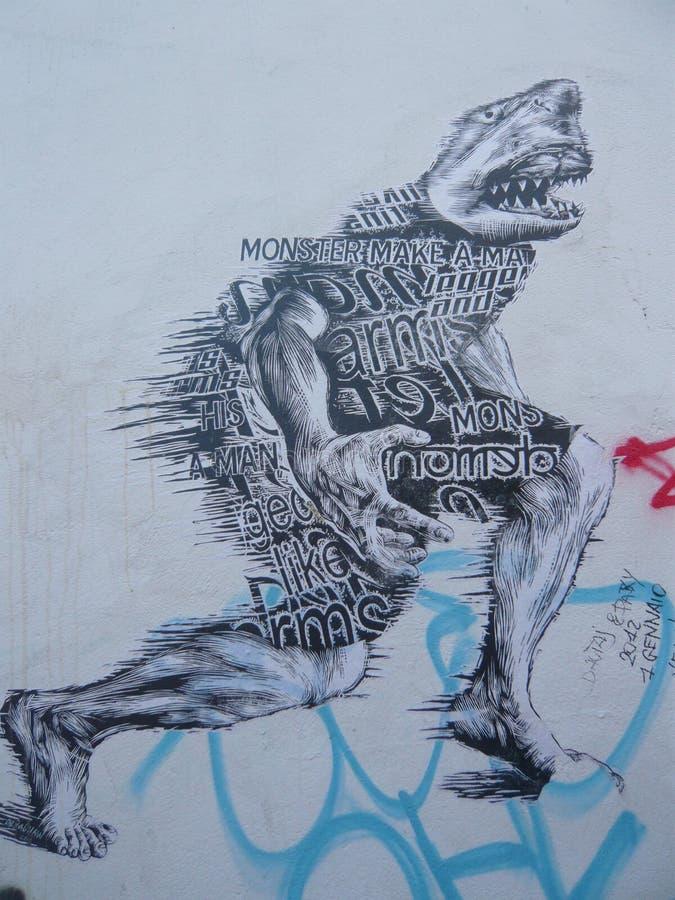 Graffiti Art Urban Art Street Art LONDEN royalty-vrije stock afbeelding