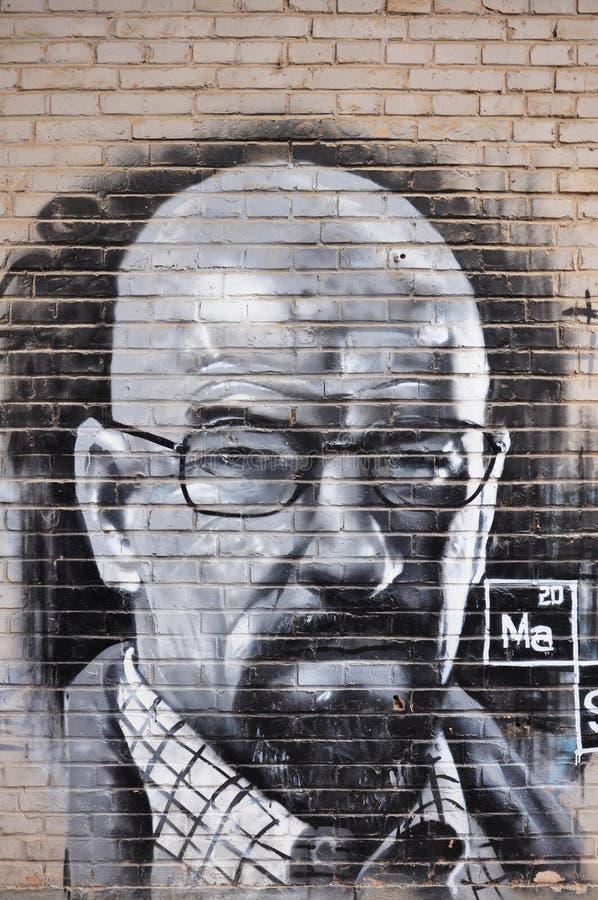 Graffiti Art Wall stock afbeelding