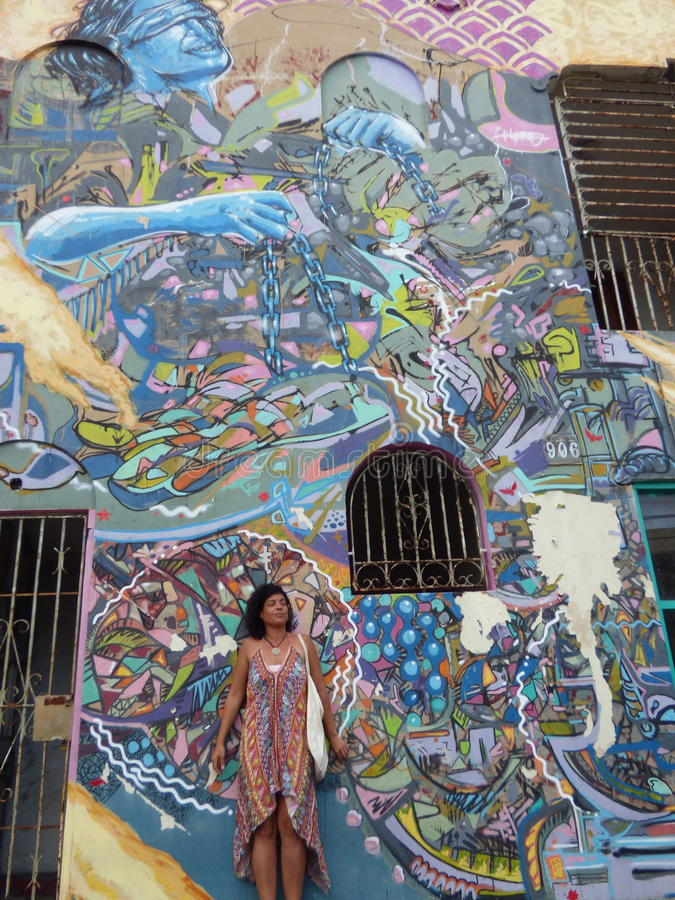 Graffiti Art, Wall in San Juan, Puerto Rico stock photography