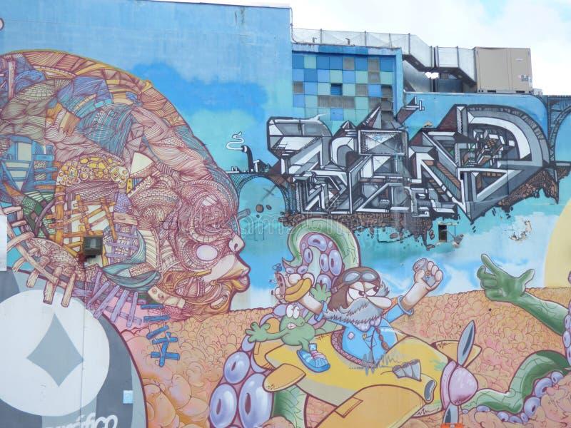 Graffiti Art, Wall in San Juan, Puerto Rico stock image