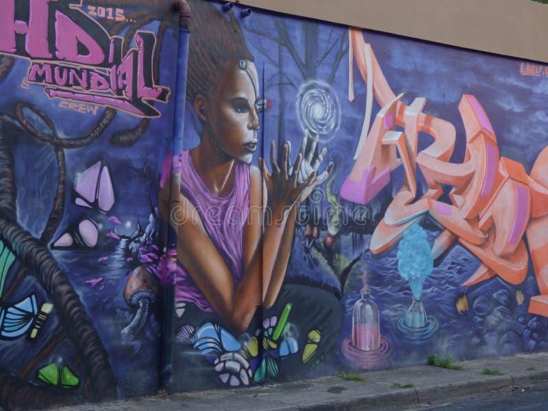 Graffiti Art, Wall in San Juan, Puerto Rico royalty free stock photo