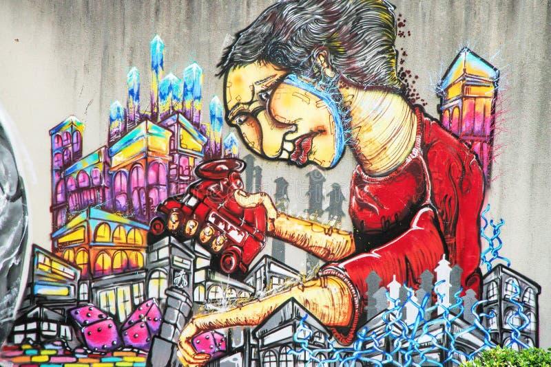 Graffiti - arte della via immagini stock