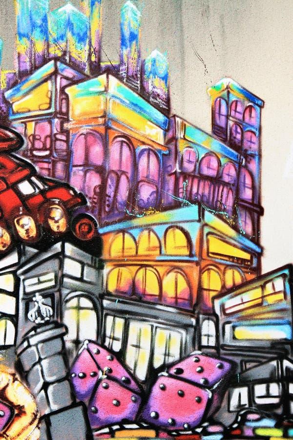Graffiti - arte della via illustrazione di stock