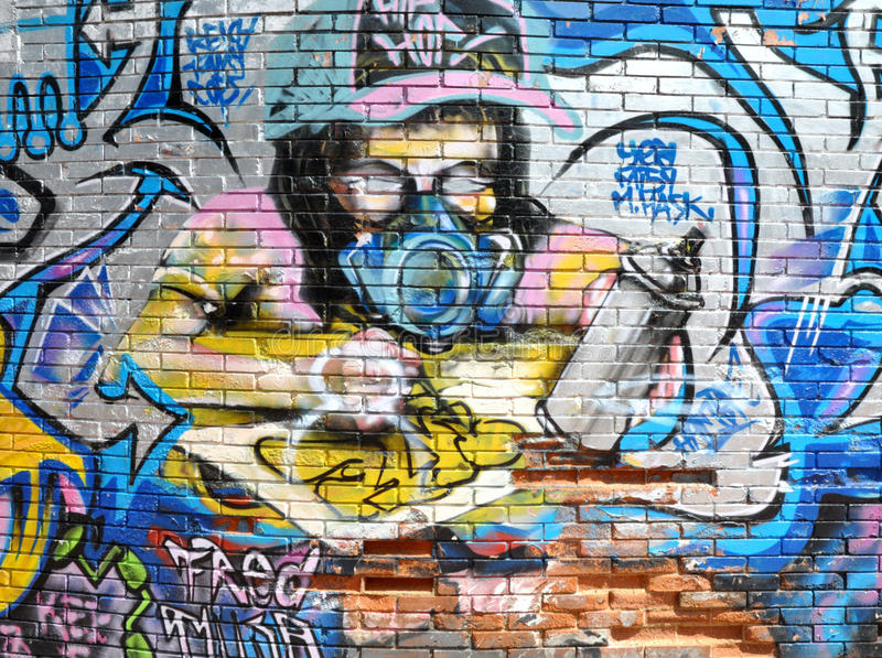 Download Graffiti Artist editorial photography. Image of wall - 18773392