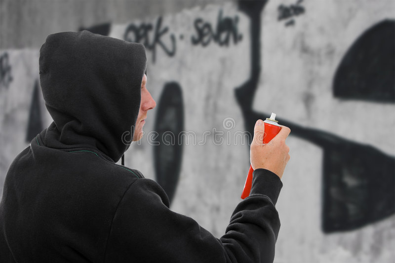 Download Graffiti Artist stock image. Image of youth, spray, artist - 5864797