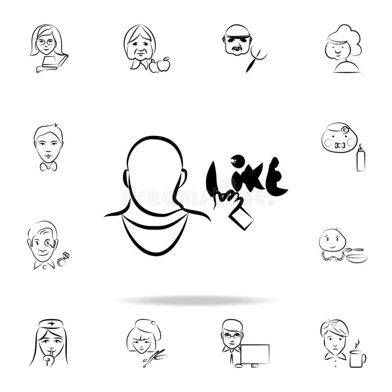 graffiti artist avatar sketch style icon. Detailed set of profession in sketch style icons. Premium graphic design. One of the vector illustration