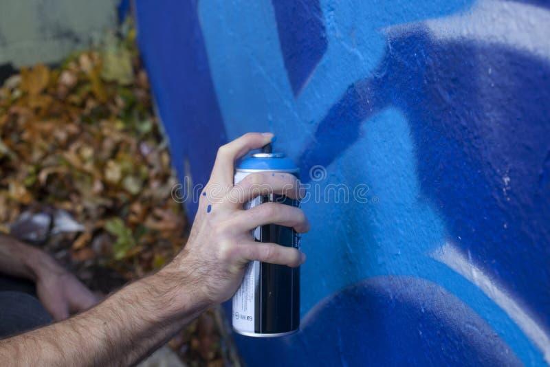 Download Graffiti Artist stock photo. Image of blue, aresol, self - 36265248