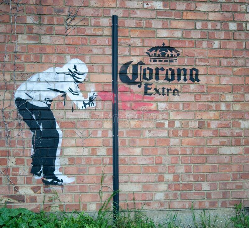 Graffiti Artist Interpetition of the Corona Virus stock images