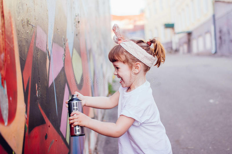 Graffiti artist royalty free stock images