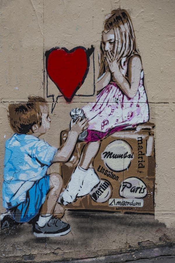 Graffiti artist proposal royalty free stock image