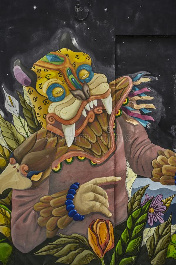 Graffiti artistique en Isla Mujeres photographie stock libre de droits