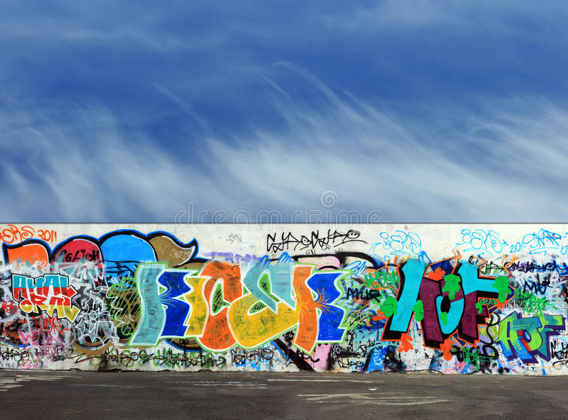 Graffiti and asphalt floor abstract background royalty free stock photo