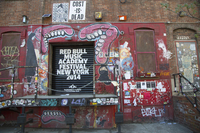 Graffiti au voisinage est de Williamsburg à Brooklyn, New York photos libres de droits