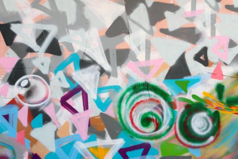 Graffiti auf der Wand stockbilder
