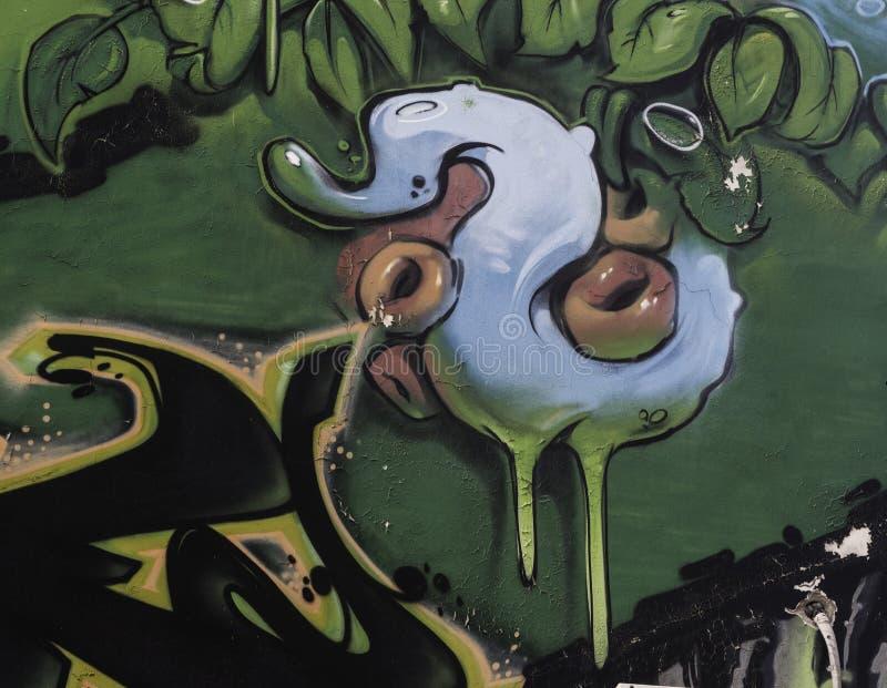 Graffiti auf der Wand Serbien, Belgrad, 16 februar 2018 Park stockfotos