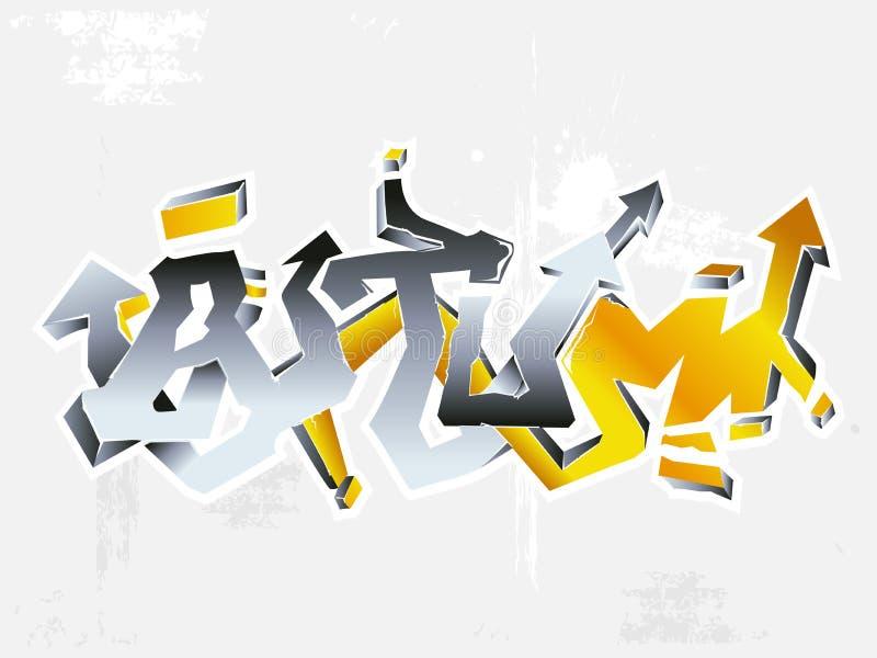 Download Graffiti autumn stock vector. Image of energy, nature - 3944672