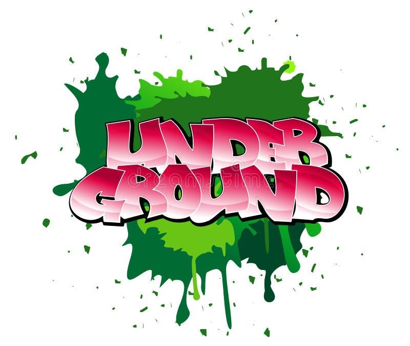 Graffiti background. Urban graffiti design on blobs background royalty free illustration