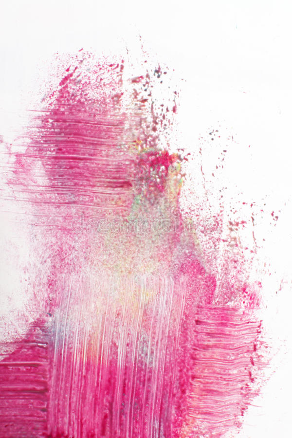 Graffiti background, modern street art, creativity. Abstract blurred graffiti, street art. Creative abstractionism, sprayed magenta color on white background stock photography