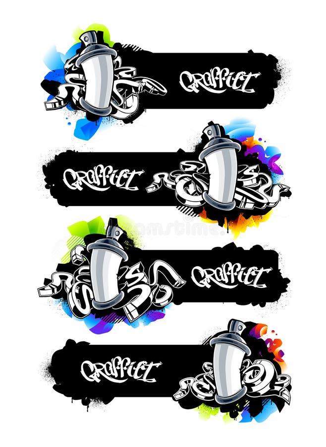 Free Graffiti Banners Set Stock Photo - 54836270