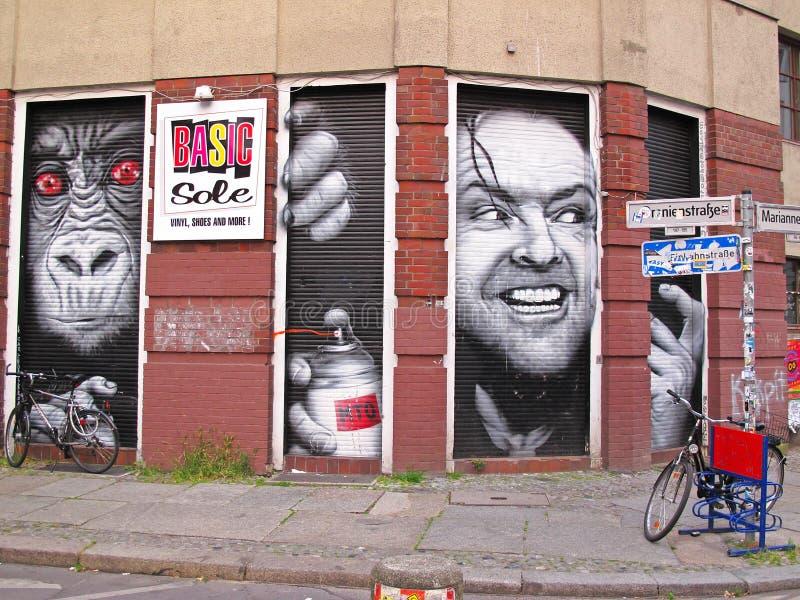 Graffiti in Berlin lizenzfreie stockfotografie
