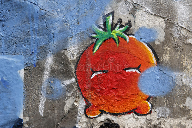 Graffiti in Berlin, Germany royalty free stock image