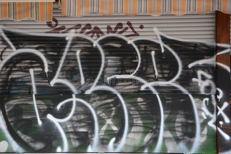 Graffiti Berlin stock image