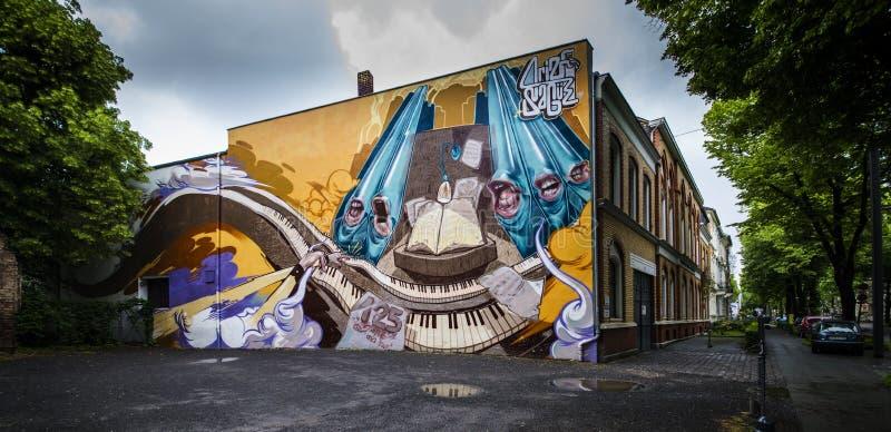 Graffiti in Bonn, Duitsland stock fotografie