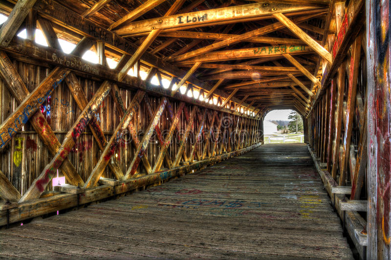Graffiti-Brücke stockfoto