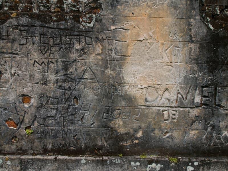 graffiti brazylijskie więzienie. zdjęcia stock