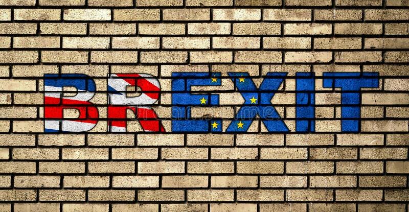 Graffiti BREXIT sul muro di mattoni fotografie stock libere da diritti
