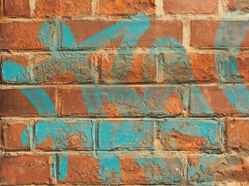 Graffiti brick wall royalty free stock images
