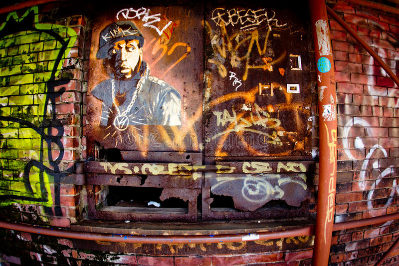Graffiti Brooklyn-NYC stockfotografie