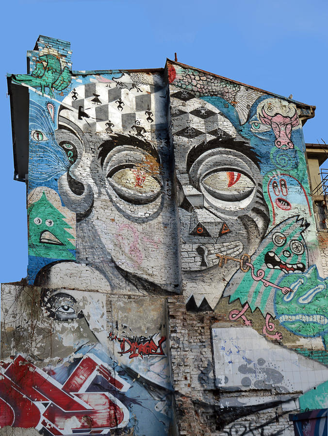 Graffiti, Bucharest, Rumunia fotografia royalty free