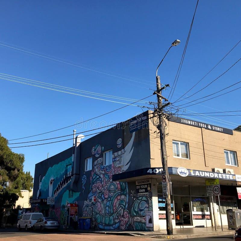 graffiti building in city center of Sydney Australia royalty free stock image