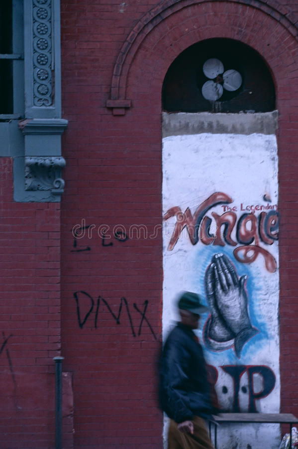 Download Graffiti On A Building In New York City, USA Editorial Photography - Image of person, urban: 25575977