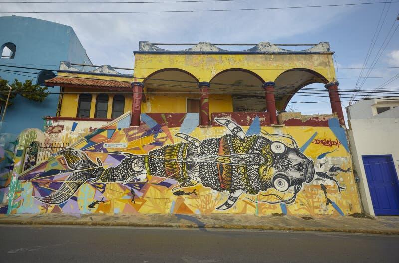 Graffiti on buildings #2 royalty free stock image